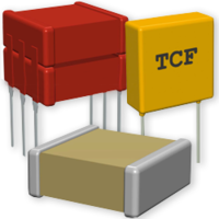 Ceramic Capacitors are surface or through-hole mounted.