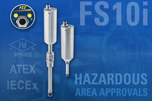 FS10i Flow Switch/Monitor Obtains Approvals For Flow Detection & Alarming In Hazardous Areas