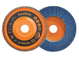 FLEXSTEEL™ Flap Discs are made of self-sharpening abrasive grains.