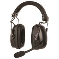 Howard Leight™ Sync® Wireless Earmuffs feature boom microphone.