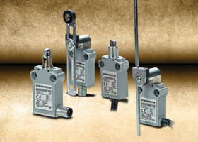 AEM2G Series Limit Switches feature epoxy resin filled die cast metal housing.