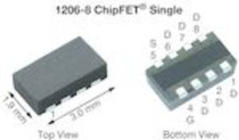 TrenchFET® SiA468D Power MOSFETs are halogen-free and RoHS-compliant.