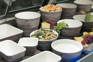 Haven Oak-Look Melamine Servingware are SGS certified.