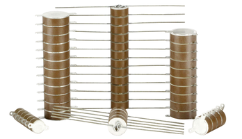 Stacked Ceramic Disc Capacitors are RoHS compliant.