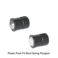 J.W. Winco Offers Metric Size Plastic Push-Fit Short Spring Plungers
