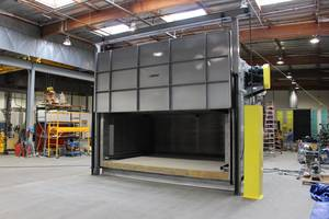 Baker Furnace Ships Heavy Duty Industrial Oven for Heat Treating Aluminum Parts