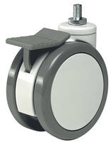 PlasTech Solus Swivel Casters come with roller or ball bearings.
