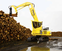 PC290LL-11 Log Loader feature OSHA certified forestry cab.