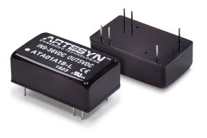 DC-DC Converters feature 1500 Vdc input/output isolation.