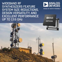 RF Synthesizers feature 1.8 V logic-level compatibility.