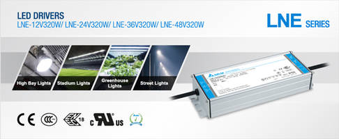 LNE-320W Series of LED Drivers meet IP65/IP67 standards.