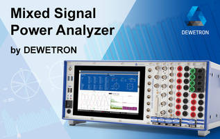 Mixed Signal Power Analyzer features isolated voltage and current inputs.
