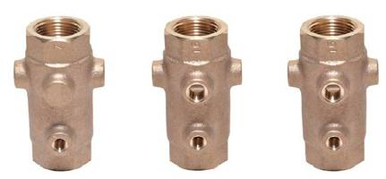 Tapped Valve comes with unleaded bronze body.