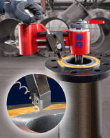Flange Hog 110 is equipped with two interchangeable cross feeds.