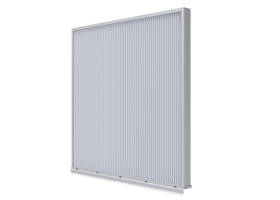 EME3625DFL Louver is constructed of extruded aluminum.