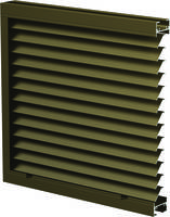 Thinline Louvers are made of heavy-gauge aluminum.