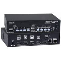 4K HDMI Quad Screen Multiviewer features built-in 2-port USB 2.0 hub.