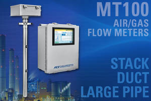 MT100 Air/Gas Flow Meters come with user programmable data logger.