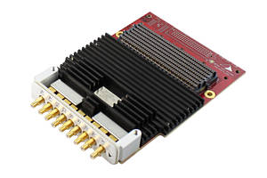 Mezzanine Card Direct RF Conversion Module supports FMC stacking.