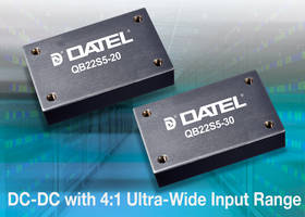 DC-DC Converters feature 2250 VDC of isolation.