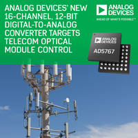 Digital-to-Analog Converters use 4-wire serial interface.