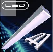 Aluminum Narrow Linear LED Luminaire offers life of 50,000 hours.