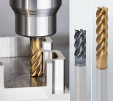 Trochoidal Carbide End Mills are TiN/TiALN or ALCR coated.