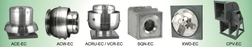 Hahn-Mason Air Systems Announcing that the Vari-Flow® EC Motors are Now Available on ACE, ACW, ACRU, VCR, SQN,XWD and CPV Models