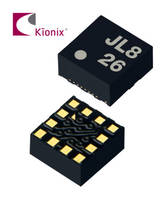 KX126 Tri-Axis Accelerometer features 16-bit resolution.