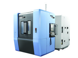 NHP Series Machining Centers come with random access disc-type tool magazine.