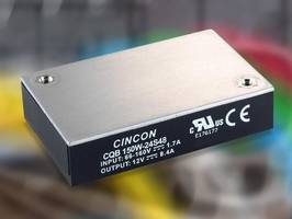 CQB150W Series 150 Watt DC-DC Converter features 2250 VDC isolation voltage.