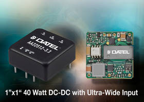 AA Series DC-DC Converters are equipped with input differential LC filter.