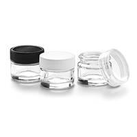 Glass Sampling Jars feature threaded cap.