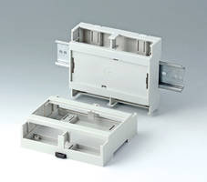 RAILTEC C DIN Rail Enclosures are molded from tough polycarbonate.