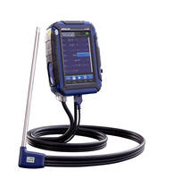 Flue Gas Analyzer comes with touch screen monitor.