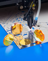 CO2 Laser Optics for Cutting and Etching Thin Metals