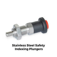 GN 414 Indexing Plungers feature chemically nickel-plated pin.
