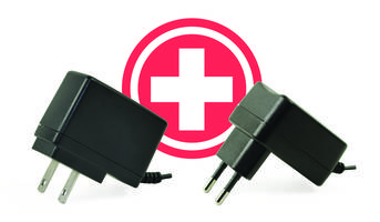 Wall Plug Power Adapters feature input voltage range of 90 to 264 Vac.