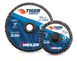 Tiger BobCat Mini Flap Discs deliver consistent cut rate.