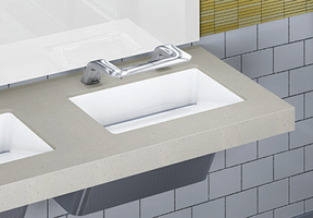 OmniDecks™ Wash Basins come with deck up to 120 in. long.