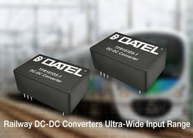 TFR Railway Series DC-DC Converters withstand up to 200 V input transients.