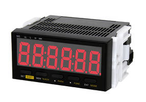 DT-501X Process Panel Meter Tachometer is enhanced with teaching function.