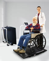 Portable Wheelchair Scale features 1 in. LCD display.