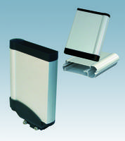 Vertical Holding Bracket is made of extruded aluminum.