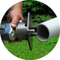 Power Pipe Beveler is equipped with 4 Amp Lithium-Ion battery.