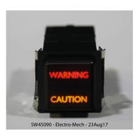 SW45090 Daylight Readable Switch offers a life of 100,000 minimum actuations.