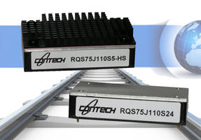 RQS Series DC/DC Converters meet EN50155 and EN45545-2 standards.