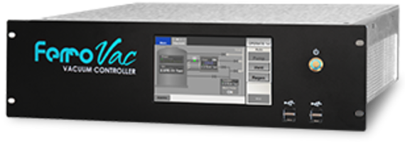 FerroVac Vacuum Controller comes with programmable touch-screen interface.