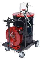 Lube Trolley Packages come with hose reel.