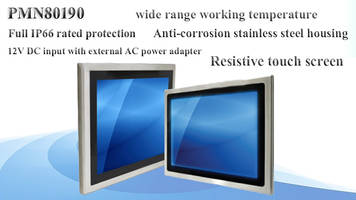 Panel Mount Monitor features 5-wire resistive touch screen.